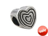 Zable™ Sterling Silver Heart with Engraveable H Bead / Charm style: BZ0316