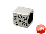 "Zable™ Sterling Silver Amore"" Block Bead / Charm"