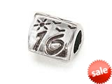 "Zable™ Sterling Silver Triangular ""16 inches Pandora Compatible Bead / Charm style: BZ0350"