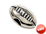 Zable™ Sterling Silver Football Pandora Compatible Bead / Charm style: BZ0352