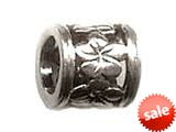 Zable™ Sterling Silver Plumeria Slide Bead / Charm