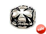 Zable™ Sterling Silver Clover Barrel Bead / Charm style: BZ0357