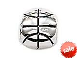 Zable™ Sterling Silver Basketball Bead / Charm style: BZ0359