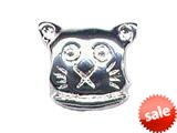 Zable™ Sterling Silver Cat Face Bead / Charm style: BZ0362