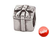 Zable™ Sterling Silver Gift With Bow Bead / Charm