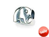Zable™ Sterling Silver Elephant Bead / Charm