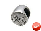 Zable™ Sterling Silver Zodiac-Aries Bead / Charm style: BZ0401