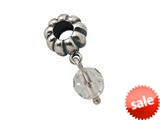 Zable™ Sterling Silver April Crystal Dangle Bead / Charm