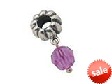 Zable™ Sterling Silver June Crystal Dangle Bead / Charm