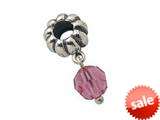Zable™ Sterling Silver October Crystal Dangle Bead / Charm