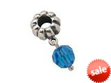 Zable™ Sterling Silver December Crystal Dangle Bead / Charm