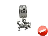 Zable™ Sterling Silver Chinese Zodiac-Horse Bead / Charm style: BZ0428