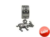 Zable™ Sterling Silver Chinese Zodiac-Ox Bead / Charm style: BZ0435