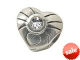 Zable™ Sterling Silver April Birthstone Heart Bead / Charm