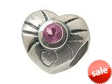 Zable™ Sterling Silver June Birthstone Heart Bead / Charm style: BZ0442