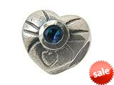 Zable™ Sterling Silver September Birthstone Hea Bead / Charm style: BZ0445