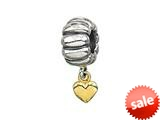 Zable™ 14k Heart Dangle Bead / Charm style: BZ0472
