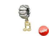 Zable™ 14k Music Note Dangle Pandora Compatible Bead / Charm style: BZ0473