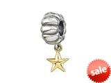 Zable™ 14k Star Dangle Bead / Charm style: BZ0475