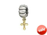 Zable™ 14k Cross Dangle Pandora Compatible Bead / Charm style: BZ0476