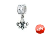 Zable™ Sterling Silver Dangle Fleur De Lis Bead / Charm style: BZ0480