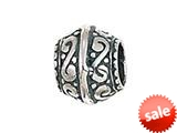 Zable™ Sterling Silver Filigree Spacer Bead / Charm style: BZ0591