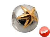 Zable™ Sterling Silver Gold Star Spacer Bead / Charm style: BZ0601