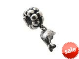 Zable™ Sterling Silver Dangle Dolphin Bead / Charm