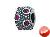 Zable™ Sterling Silver February Crystal Ball Bead / Charm style: BZ0722