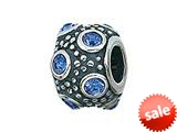 Zable™ Sterling Silver September Crystal Ball Bead / Charm style: BZ0729