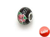 Zable™ Sterling Silver Tabor-Hydrangea Glass Murano Glass Bead / Charm style: BZ0871