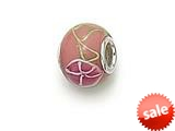 Zable™ Sterling Silver Orange Blossom Glass Murano Glass Bead / Charm style: BZ0874