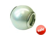 Zable™ Sterling Silver 10Mm Shell Simulated Pearl White Pandora Compatible Bead / Charm style: BZ0899