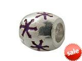 Zable™ Sterling Silver Purple Enamel Stars Bead / Charm style: BZ0930