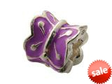 Zable™ Sterling Silver Purple Enamel Butterfly Bead / Charm