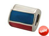 Zable™ Sterling Silver Russia Enamel Flag Bead / Charm style: BZ0951