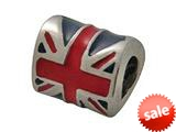 Zable™ Sterling Silver United Kingdom Enamel Fl Bead / Charm