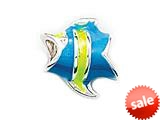 Zable™ Sterling Silver Tropical Fish, Enameled Bead / Charm