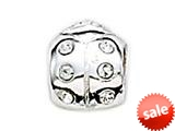 Zable™ Sterling Silver C.Z. Ladybug Bead / Charm style: BZ1005