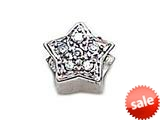 Zable™ Sterling Silver C.Z. Star Bead / Charm