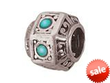Zable™ Sterling Silver Turquoise Bead / Charm style: BZ1011