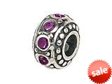 Zable™ Sterling Silver Crystal Birthstone February Pandora Compatible Bead / Charm style: BZ1051