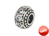 Zable™ Sterling Silver Crystal Birthstone April Pandora Compatible Bead / Charm style: BZ1053