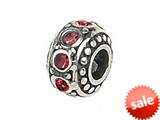 Zable™ Sterling Silver Crystal Birthstone July Pandora Compatible Bead / Charm style: BZ1056