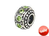 Zable™ Sterling Silver Crystal Birthstone August Pandora Compatible Bead / Charm