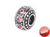 Zable™ Sterling Silver Crystal Birthstone October Pandora Compatible Bead / Charm