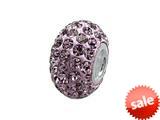 Zable™ Pave Swarovski Crystal Bead June Bead / Charm style: BZ1075