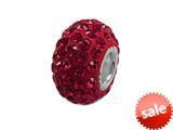 Zable™ Pave Swarovski Crystal Bead July Bead / Charm style: BZ1076