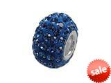 Zable™ Pave Swarovski Crystal Bead September Bead / Charm style: BZ1078