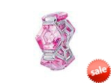 Zable™ Sterling Silver Pink Hexagons Pandora Compatible Bead / Charm